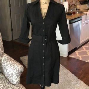 Black button down dress